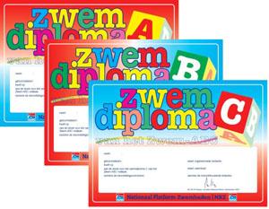 Op 14 April 2019 Diploma zwemmen!